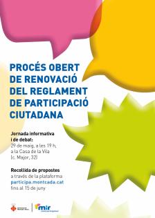 Renovació del reglament de participació ciutadana