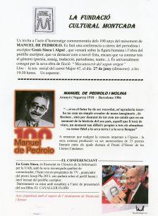 Homenatge a Manuel de Pedrolo
