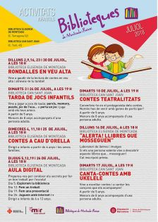 Activitats infantils juliol a les biblioteques
