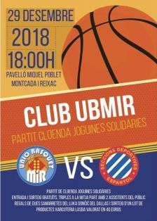 Partit amistós de bàsquet: UB MiR - RCD Espanyol