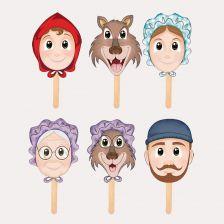 Màscara de personatge de contes
