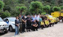 Els cossos de seguretat i vigilància policial, amb les autoritats