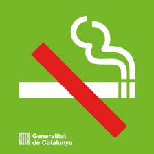 Icona que mostra la prohibició de fumar